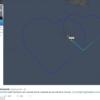 旅客機が空に描いたハート形!マルタ島上空 エアバスA319の航路が素敵すぎる!