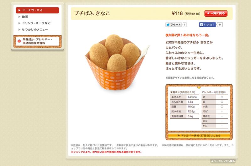 2009年に品切れが続出した人気ドーナツ[2015 プチぱふ復刻]のミスタードーナツ