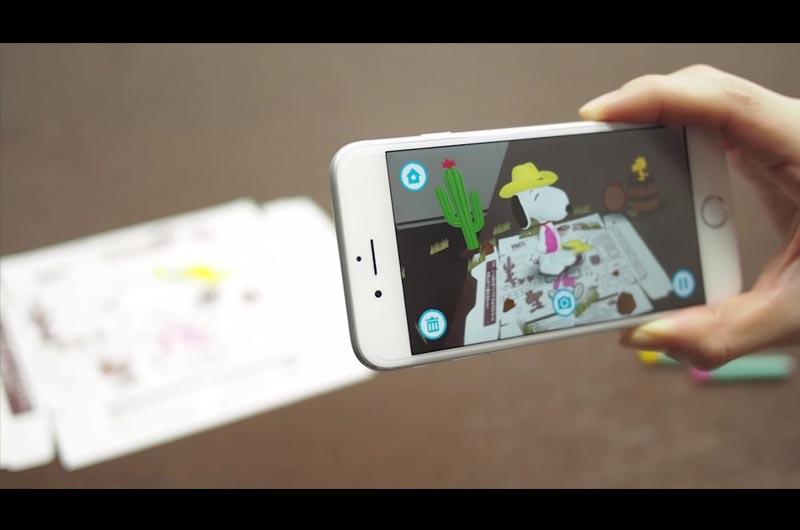 子供が遊べるアプリ!ぬりえでとびだすスヌーピー!ポッキーとプリッツで遊ぼう!