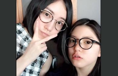 川島海荷と松井珠理奈のすっぴん眼鏡姿が話題!海荷と珠理奈ダブルスッピン画像に大反響!