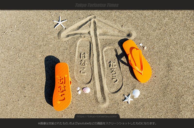 浜辺を歩くだけで注目されるアイテム!ビーチスタンプサンダル!海水浴が楽しくなるサンダル