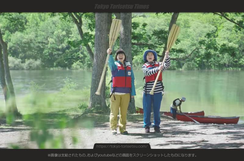 JR東日本CM行くぜ東北!カヌーを楽しむ女子旅出演女優は?十和田湖・奥入瀬渓流の旅