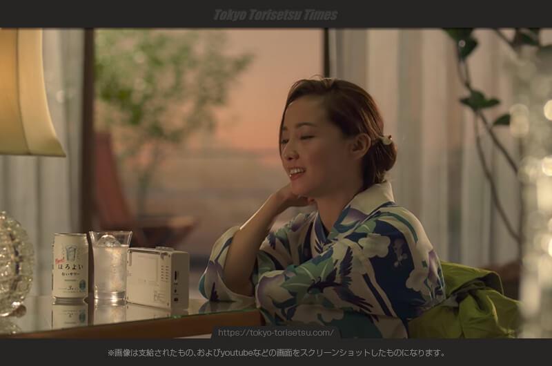 サントリーほろよい新CM口ずさむ歌、浴衣姿も美しく色っぽく!沢尻エリカ出演CM
